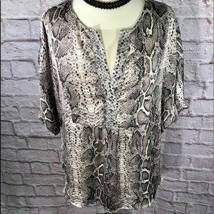 ARK & CO python print pullover top. EUC